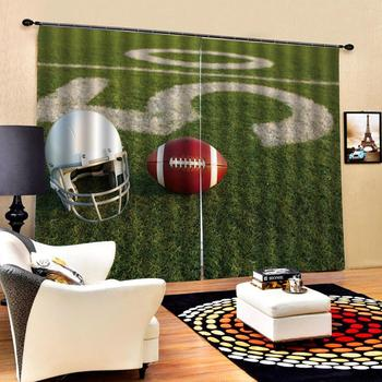 3D Blackout Curtains For Living room Bedding room Drapes Cotinas para sala green curtains sport curtain