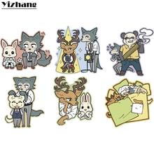 Yizhang японского аниме BEASTARS Haru Legosi волк Руи олень гухин панда милый стикер автомобиля