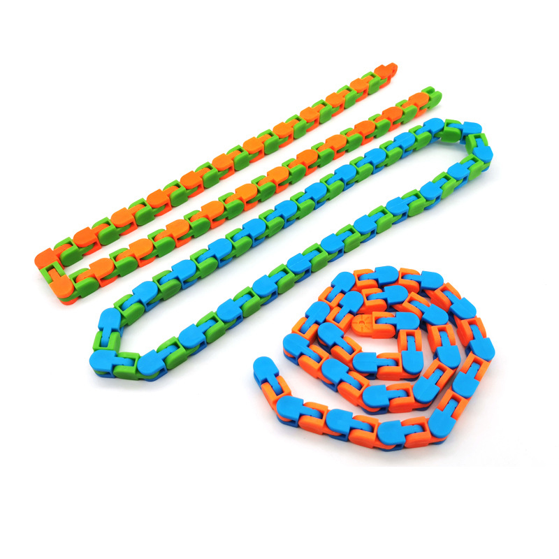 3pcs Wacky Tracks Snap And Click Fidget Toys Kids Stress Relief Autism Snake Puzzles Classic Children Funny Fiddle Sensory Toy