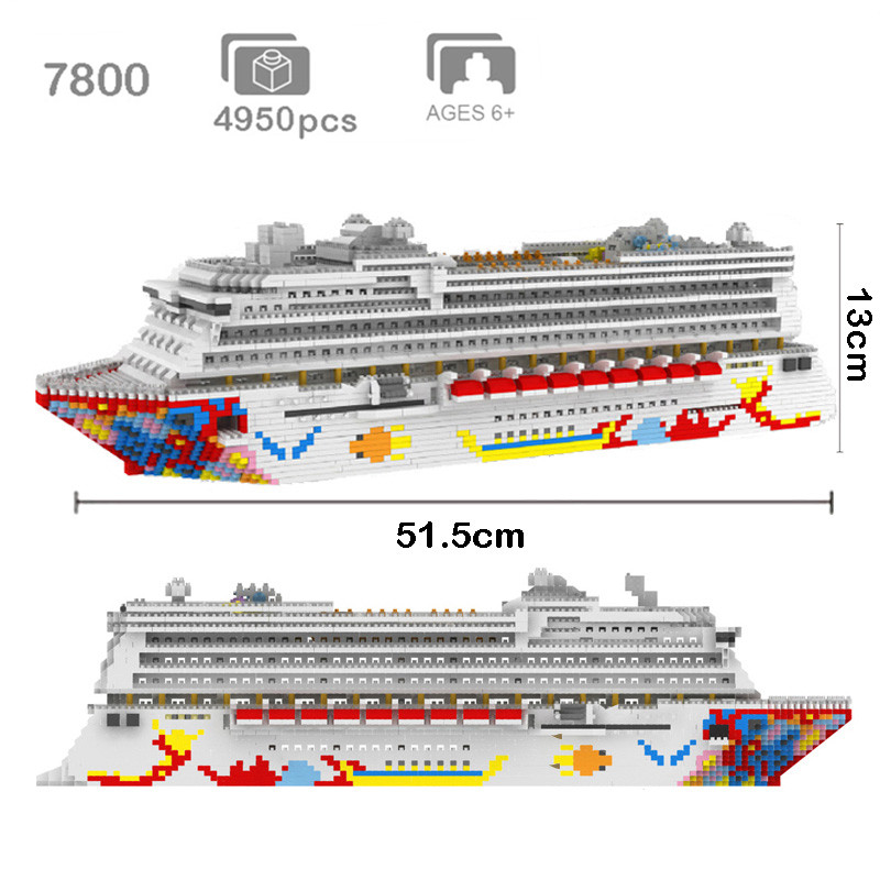 ZRK-Luxury-Cruise-Liner-Ship-Big-White-Boat-3D-Model-DIY-Diamond-Mini-Building-Micro-Blocks_副本