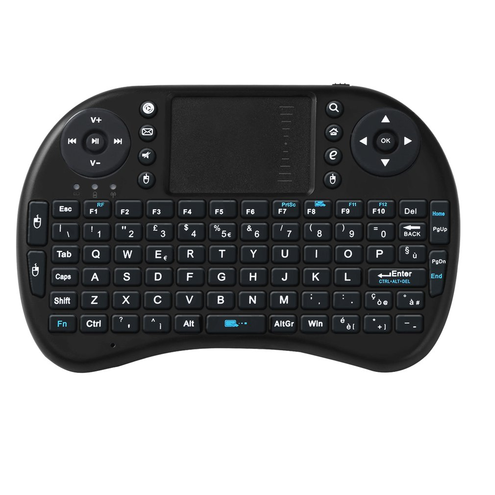 Mini Black 2.4Ghz Wireless 92 Keys Touchpad Keyboard Ergonomically Handheld Design Easy To Carry And Operate