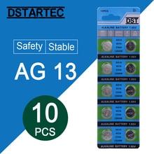 10 шт. 30 мАч 1,55 в AG13 LR44 L1154 RW82 RW42 SR1154 SP76 pila SR44 кнопочные батареи для часов игрушки дистанционного управления и т. Д