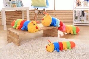 53 см nanoparties Красочные Гусеницы Плюшевые Детские игрушки для детей мягкая плюшевая подушка кукла игрушка для мальчиков и девочек Peluche подушк...