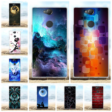 For Sony Xperia XA2 Plus Case Slim Soft TPU Silicone Cover Hill Patterned Capa