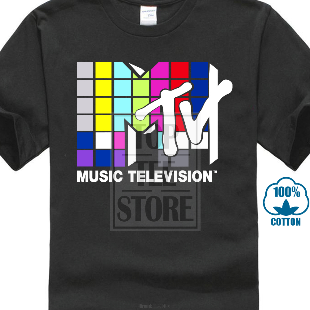 Mtv Music Television 80S Logo Official Mens T Shirt 016950