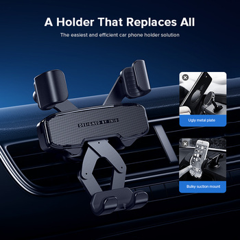 INIU Gravity Car Holder For Phone in Car Air Vent Mount No Magnetic Mobile Cell Phone Holder GPS Stand For iPhone Xiaomi Samsung 2