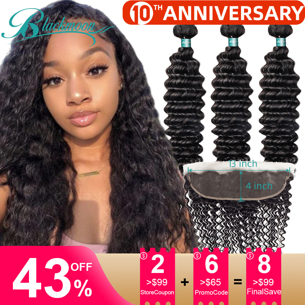 Brazilian Hair Weave Bundles With Frontal Deep Wave Bundles With Closure Frontal Human Hair Bundles With Closure Frontal Natural