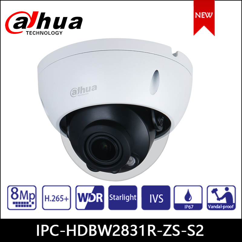 Dahua 8MP IP Kamera IPC-HDBW2831R-ZS-S2 2,7mm-13,5mm motorisierte zoom objektiv gebaut in SD card slot IR Audio Alarm IR 60M PoE Kamera