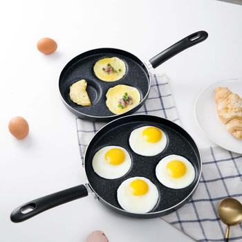 3/4 Holes Omelet Pan For Eggs Ham PanCake Maker Frying Pans Creative Non-stick No Oil-smoke Breakfast Grill Pan Cooking Pot