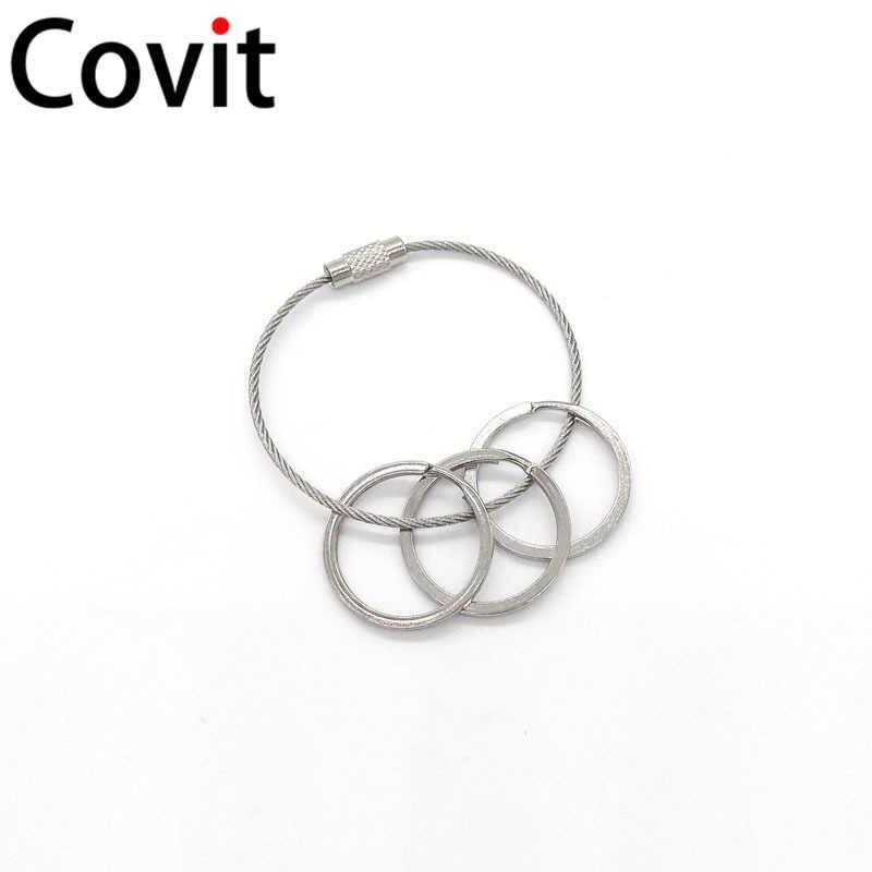 เชือกลวด Key แหวนเหล็กแหวนโลหะหัวเข็มขัดสุนัข Paw หัวเข็มขัดกุ้งก้ามกราม buckle 8 คำพวงกุญแจกระเป๋าอุปกรณ์เสริมหัวเข็มขัด