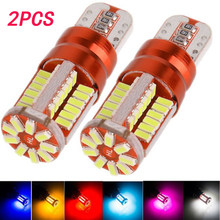 2 pces led w5w t10 3014 57smd luz de largura, luz da placa de licença
