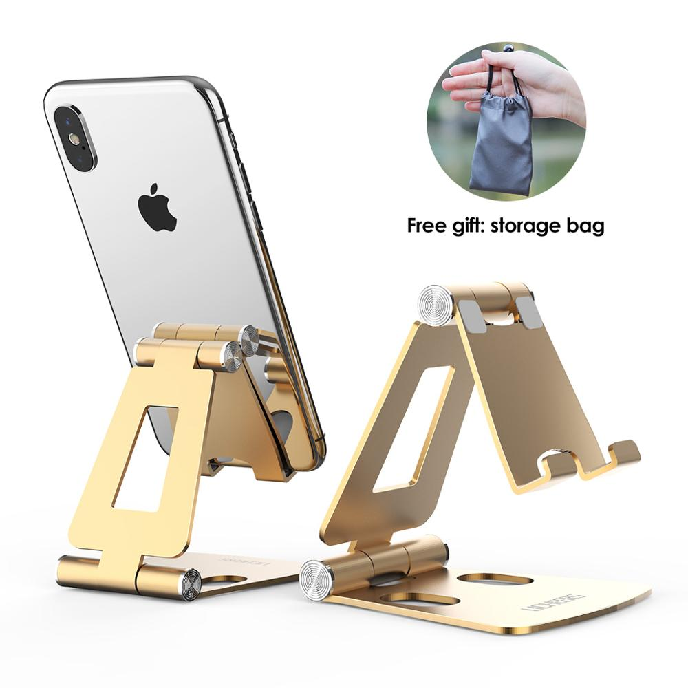 LINGCHEN Phone Stand For IPhone 11 Samsung Xiaomi Mi 9 Foldable Metal Desk Phone Holder Mobile Phone Stand For IPhone 7 8 X XS
