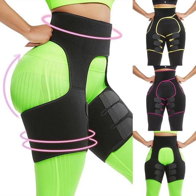 Women Neoprene Slimming Belt Sweat Body Leg Shaper High Waist Trainer Weight Loss Fat Belt Thigh Trimmer Body Shaper