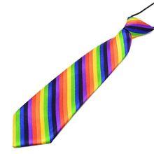 Ties Imitation-Silk Rainbow-Stripes Leopard Necktie Stage Pre-Tied Boys Kids Print Party-Costume