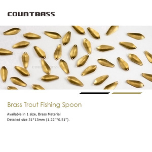 Image 2 - 50pcs Brass Salmon Fishing Spoon Blanks SP013  2.4g ( 3/32oz) , Bass Pike Lure Baits Unpainted