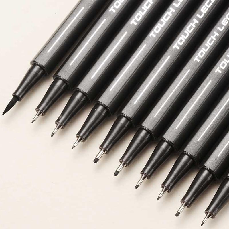 Ink-Marker-Pen Pigment-Liner Drawing-Pen Micron Manga Sketching Tip Set 10pcs/Set