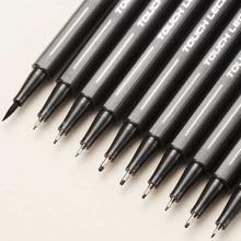 Set de bolígrafos de punta fina de tinta negra, juego de 10 bolígrafos de 0.05, 0.1, 0.2, 0.3 y 0.4 para caligrafía y dibujo