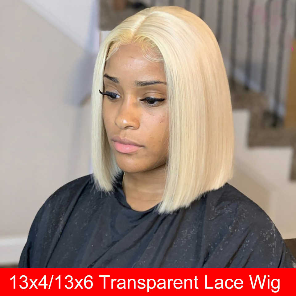 Perruque Bob Lace Front Wig naturelle, Maxine Bob | Cheveux lisses, blond 613, HD, 150
