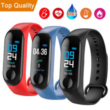 цена на M3 Plus Smart Wristband Blood Pressure Heart Rate Monitor Smart Bracelet Fitness tracker Watch For Smart Band For Android iOS