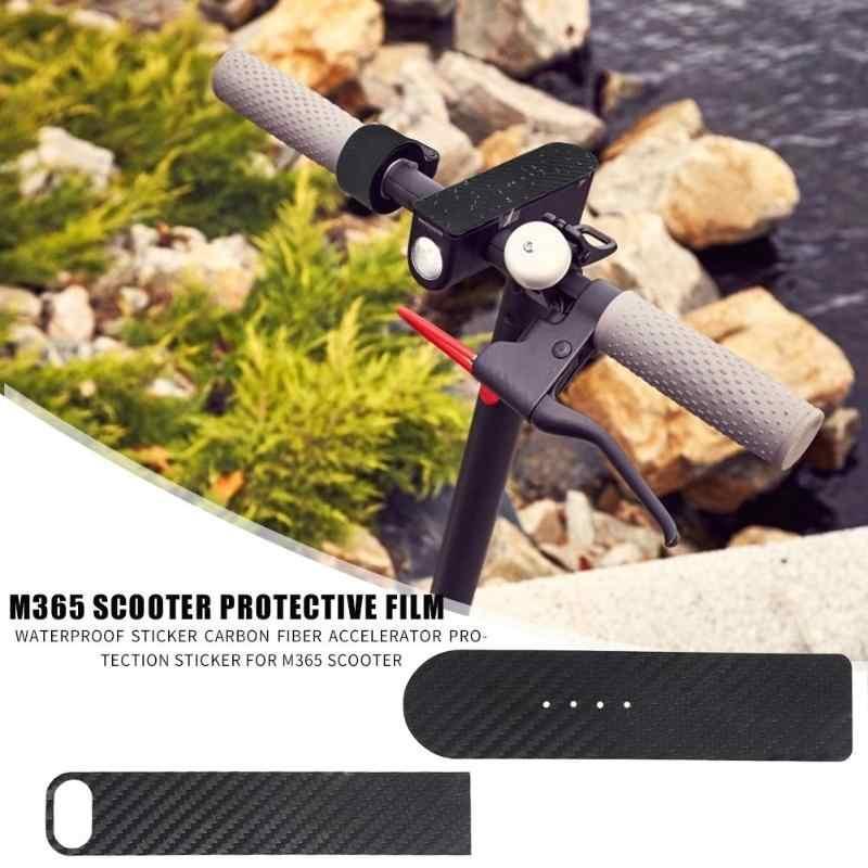 Pegatina de acelerador de película de protección de carbono para M365, pantalla impermeable, pegatina de acelerador, accesorios para Scooter Eléctrico para Xiaomi