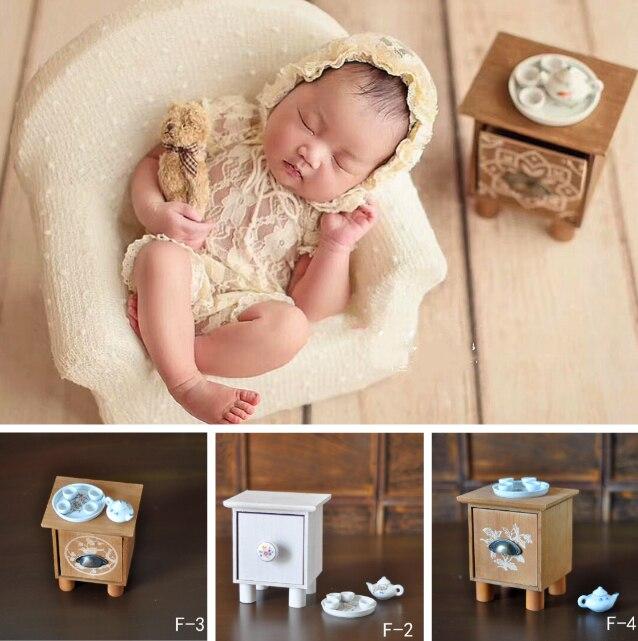 Newborn Baby Photography Prop Mini Tea Table And Tea Set Photo Studio Creative Accessories Infant Shoot Decorations