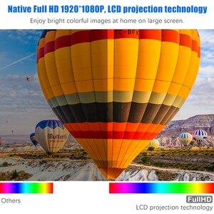Image 3 - ที่มีประสิทธิภาพโปรเจคเตอร์Full HD 1080P LED proyector 3D Video Beamer HDMI 4Kสมาร์ทAndroid 7.1(2G + 16G) wireless WiFi Home Cinema