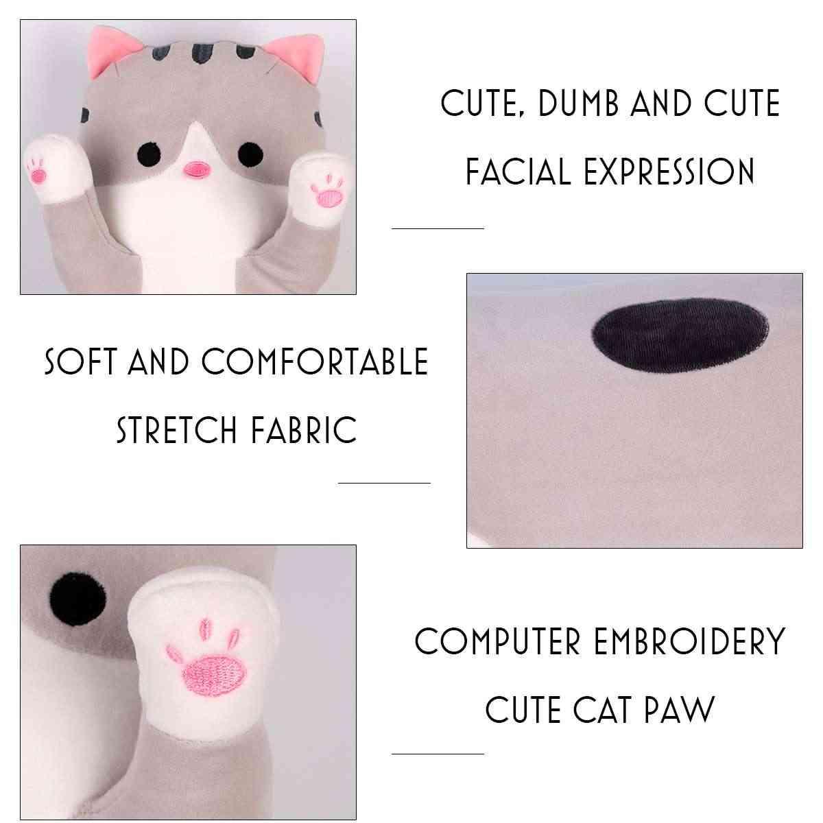 Plush Toys Animal Cat Cute Creative Long Soft Toys Office Lunch Break Nap Sleeping Pillow Cushion Stuffed Gift Doll for Kids