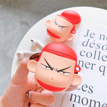 цены For AirPod 2 Case 3D Slamdunk anime Sakuragi Hanamichi Cartoon Soft Silicone Cases For Apple Airpods Case Cute Cover Funda