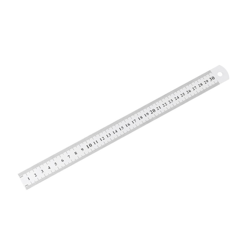 Stainless Steel Metal Ruler 30CM Straight Ruler Measurement Double Sided For Sewing Foot Sewing & School Stationery