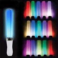 Световая палочка с питанием от аккумулятора, 15 цветов, светодиодная светящаяся палочка, свадебное торжество, флуоресцентный Отдых на природе, голосовые концерты, Декор