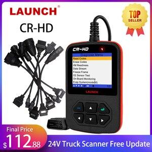 LAUNCH Creader CR-HD 24 В диагностический инструмент для грузовиков Volvo HOBD Diesel 24 в сканер тяжелых грузовиков для мужчин OBD2 считыватель кодов Ван LAUNCH