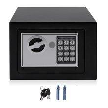 Solid Steel Electronic Safe Box With Digital Keypad Lock 4.6L Mini Lockable Jewelry Storage Case Safe Money Cash Storage 2019