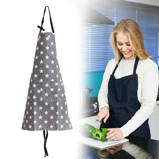 Simple Unisex Apron Kitchen Sleeveless Apron Waterproof Cotton Star Painting Home Kitchen Accessories for Cooking Kitchen 6