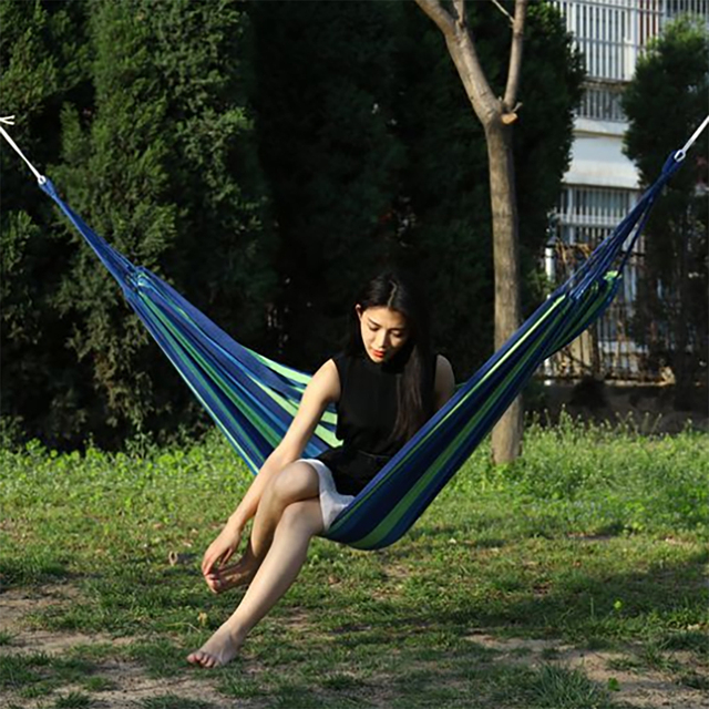 Portable hanging hammock indoor home bedroom hammock lazy chair travel outdoor camping swing chair thick canvas bed hammocks