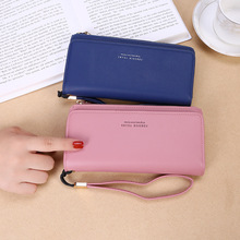New Fashion Women Wallets Hasp Nubuck Leather Zipper Wallet Women's Long Design Purse Two Fold More Color Clutch new fashion women wallets pu leather zipper wallet women s long purse two fold clutch card bag casual hasp dollar price wallet