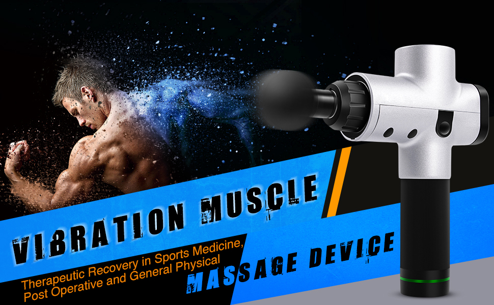LED Screen - Vibration Muscle Massage Gun