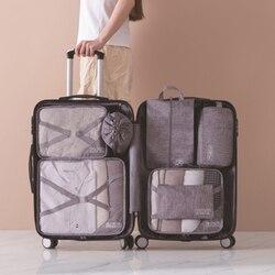 Neue produkt reisetasche sieben-stück lagerung set multi-funktion kleidung finishing lagerung tasche waschen tasche schuh tasche
