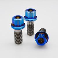Burnt blue M14*1.5*28 ball seat Gr5 titanium wheel bolt for Mercedes Benz