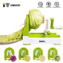 DEKO спирализатор для морковь резак фруктовый, овощной слайсер салат лапши лапшерезка Кухня аксессуары