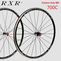 RXR Bike Wheels Carbon Fiber Hub 700 Wheel Sets Wheels Sealed Bearing Road Bike Wheelset 700c Alloy Ultra light 20/24H