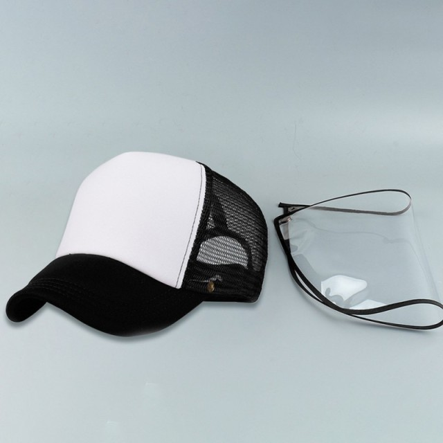 Detachable Anti-Saliva Protective Hat Cover Outdoor Baseball Hat Adjustable Unisex Peaked Cap Protective Face Shield Cover 2