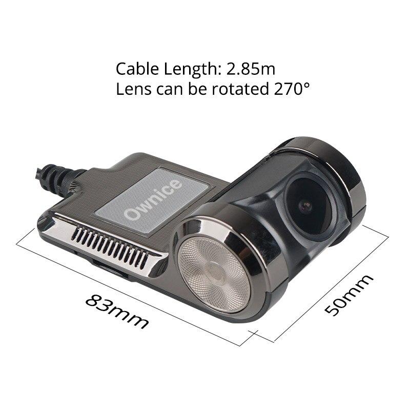 Ownice V1 V2 Mini ADAS wideorejestrator samochodowy Carmera kamera na deskę rozdzielczą pełna HD1080P samochodowy rejestrator wideo g-sensor noktowizor Dashcam akcesoria