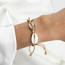 Simple Shell Bracelet For Women Bohemian Style Bracelet Set Boho Charm Pulseras Love Chain Summer Bracelet Set