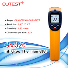 Digital Infrared Thermometer Themperature Pyrometer IR Laser Point Gun Non Contact 330 degree GM320