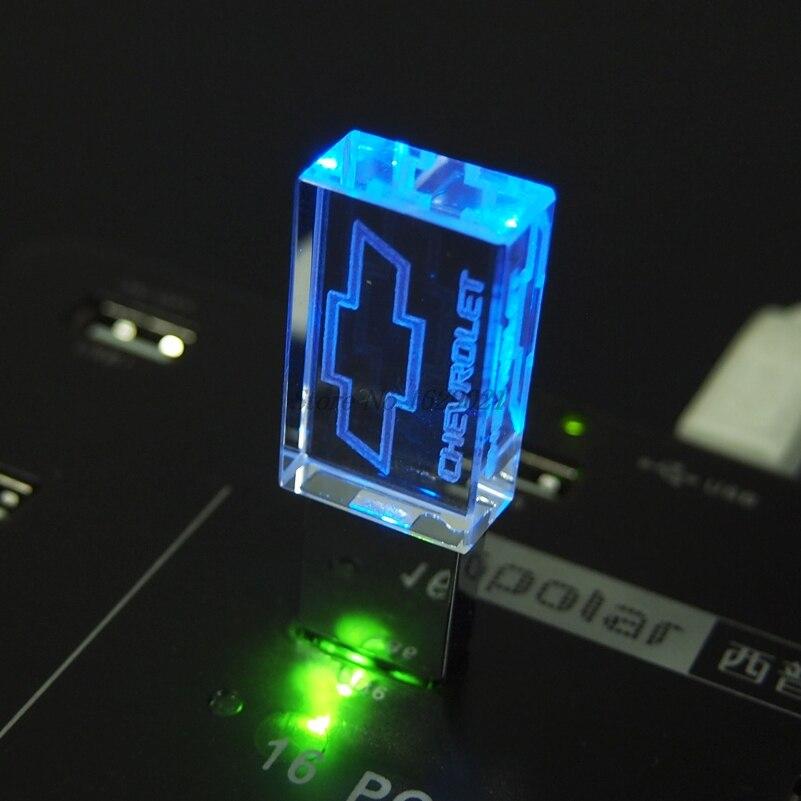 100% реальный объем 4 ГБ 8 ГБ 16 ГБ 32 ГБ 128 ГБ Хрустальный USB флэш-накопитель с логотипом автомобиля chevрол флэш-накопитель 2,0 свадебные подарки