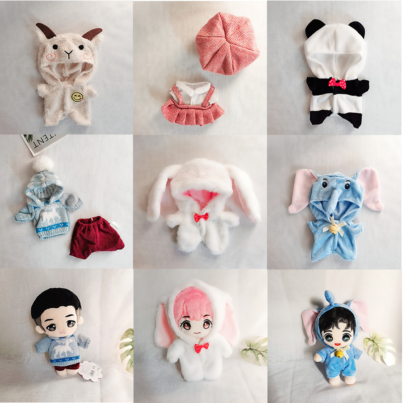 20cm Plush Doll's Clothes Outfit Accessories for Korea Kpop EXO Idol Dolls Pajama Bodysuit Clothing Fans Gift Collection