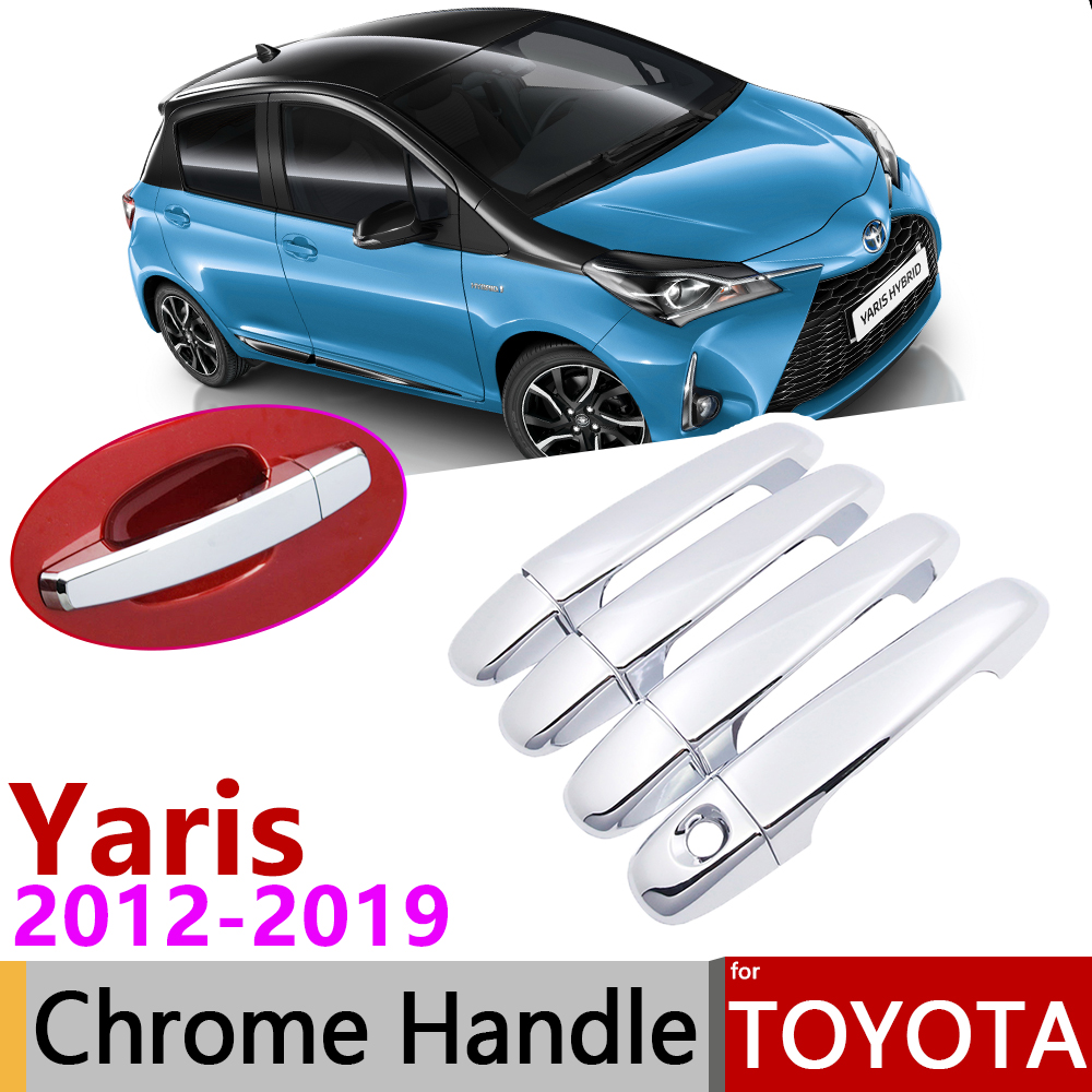 TOYOTA YARIS XP130 XP150 TRD REAL GLOSSY CARBON FIBER SIDE MIRROR COVER FOR 13