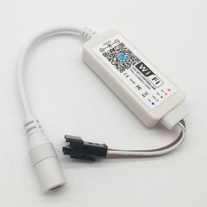 Image 5 - DC 5V 12 24V קסם בית LED WiFi בקר iOS אנדרואיד שליטה חכם Alexa גוגל עוזר WS2811 SK6812 WS2812B LED רצועת