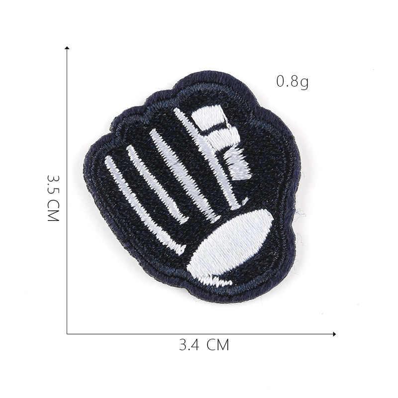 1 sztuk deskorolka Sport żelazko na plastry na odzież Baseball naklejki paski piłkarskie aplikacje na ubrania hafty odznaki @ D