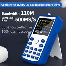 FNIRSI 1C15 Professional Digital Oscilloscope 500MS/s Sampling Rate 110MHz Analog Bandwidth Support Waveform Storage